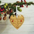 First 1st Christmas in Our New Home Heart Decoration Housewarming Gift Keepsake